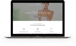 Webdesign Portfolio TAEL Kosmetikinstitut CREATED21